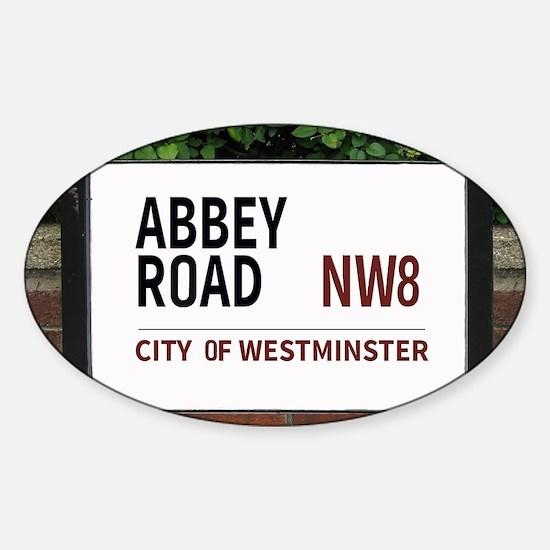 Abbey Road street sign Sticker (Oval)