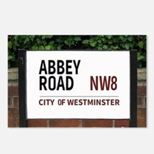 Abbey Road street sign Postcards (Package of 8)