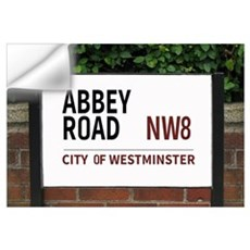 Beatles abbey road wall decals beatles abbey road wall for Abbey road wall mural