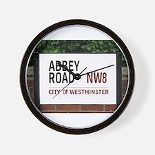 Abbey Road street sign Wall Clock