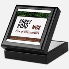 Abbey Road street sign Keepsake Box