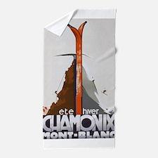 Chamonix, France Vintage Travel Poster Beach Towel