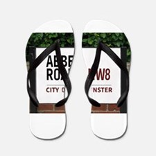 Abbey Road street sign Flip Flops