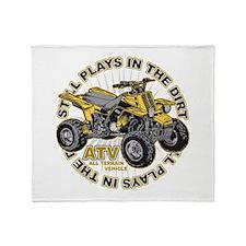 Plays in the Dirt ATV Throw Blanket