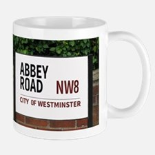 Abbey Road street sign Mugs