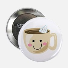"""Happy Coffee 2.25"""" Button (10 pack)"""