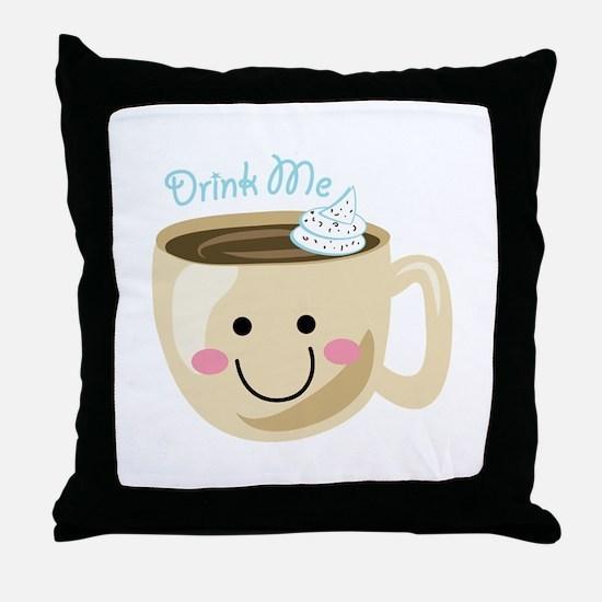 Drink Me Throw Pillow