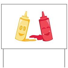 Ketchup & Mustard Yard Sign