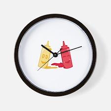 Ketchup & Mustard Wall Clock