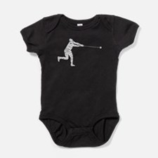 Distressed Hammer Throw Silhouette Baby Bodysuit