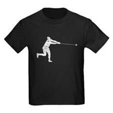 Distressed Hammer Throw Silhouette T-Shirt
