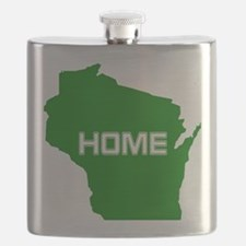 Wisconsin is Home Flask