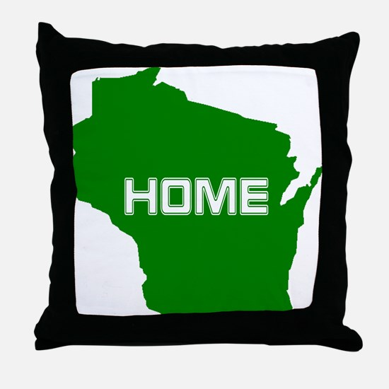 Wisconsin is Home Throw Pillow