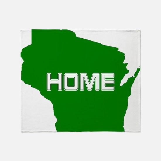 Wisconsin is Home Throw Blanket