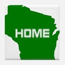 Wisconsin is Home Tile Coaster