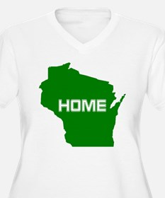 Wisconsin is Home Plus Size T-Shirt