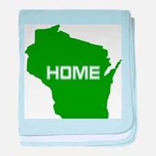 Wisconsin is Home baby blanket