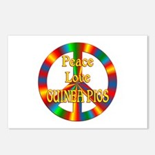 Peace Love Guinea Pigs Postcards (Package of 8)