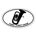 Tuba - First Chair Sticker