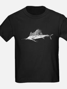 Distressed Sail Fish Silhouette T-Shirt