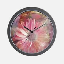 Colorful Daisy Dreams Wall Clock