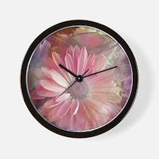 Colorful Daisy Dreams Wall Clock