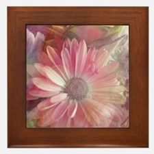 Colorful Daisy Dreams Framed Tile