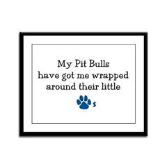 Wrapped Around Their Paws (Pit Bull) Framed Panel