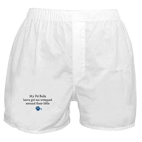 Wrapped Around Their Paws (Pit Bull) Boxer Shorts