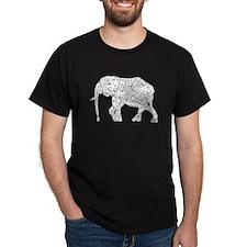 Distressed Elephant Silhouette T-Shirt