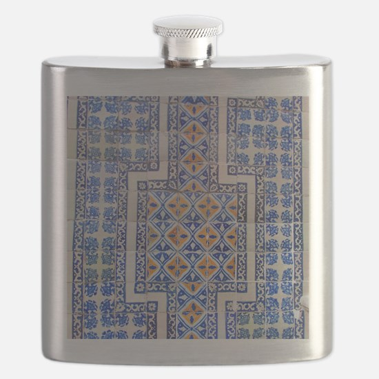 Mexican Tilework Flask