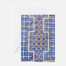 Mexican Tilework Greeting Card