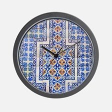 Mexican Tilework Wall Clock