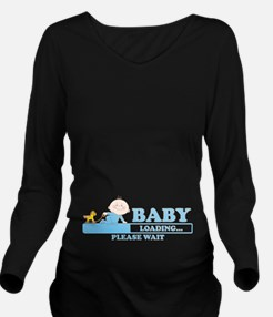 Funny pregnant twins Long Sleeve Maternity T-Shirt