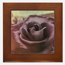 Rosy Elegance Framed Tile