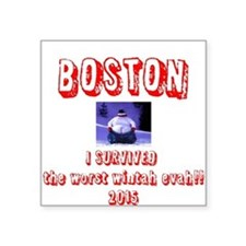"Unique Boston Square Sticker 3"" x 3"""