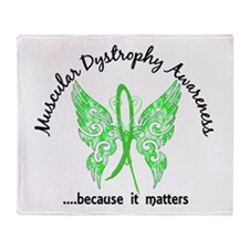 Muscular Dystrophy Butterfly 6.1 Throw Blanket