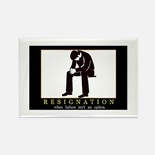 Resignation Rectangle Magnet