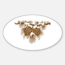 Brown Pine Cones Decal