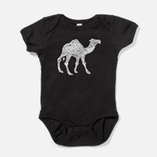 Distressed Camel Silhouette Baby Bodysuit