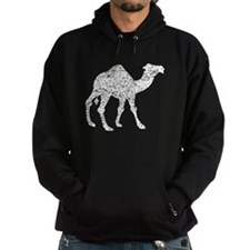 Distressed Camel Silhouette Hoodie
