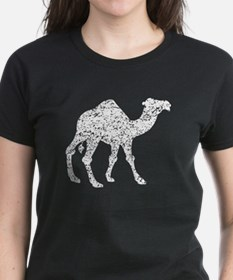 Distressed Camel Silhouette T-Shirt