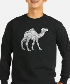 Distressed Camel Silhouette Long Sleeve T-Shirt