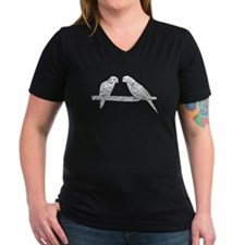 Distressed Perched Birds Silhouette T-Shirt