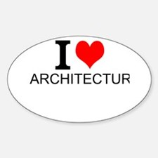 I Love Architecture Decal