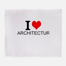 I Love Architecture Throw Blanket