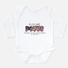 Future president Long Sleeve Infant Bodysuit