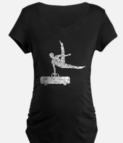 Distressed Pommel Horse Silhouette Maternity T-Shi