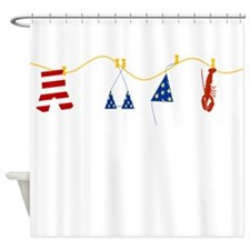 Swimsuit Celebration Shower Curtain