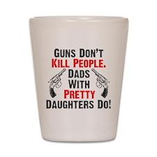 Guns Shot Glass